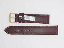 """FLUCO (Germany) Genuine Cowhide Leather Watch Band 20 mm Brown """"Triumpf"""""""