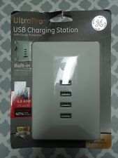 GE UltraPro USB Charging Station With Surge Protection & Cable Mgmt 31712 * NEW