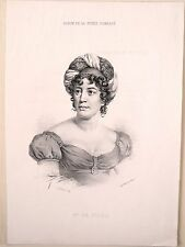 Portrait de Mme de Staël par Hebert, Suisse Romande