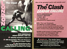 The Clash London Calling poster New double sided 25th Anniversary Promo only