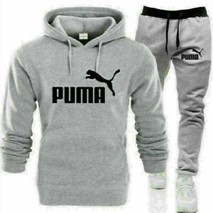 NEW PUMA Men's Sets Hoodie pants Casual Tracksuit Sportswear Gym Sweat Suit Gift