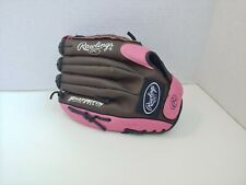 "Rawlings FP10DBP 12"" FastPitch Glove RHT Baseball Softball Leather Pink Girls"