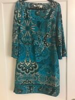 Women's Floral Blue Dress, Size Medium, New w/ o Tags