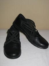 ECCO Babett Clog Mary Jane Sz 37 US 6-6.5 Black Leather Flats NWOB