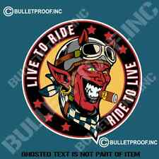 LIVE TO RIDE DECAL STICKER RETRO MOTORBIKE MOTORCYCLE MANCAVE TOOLBOX STICKERS