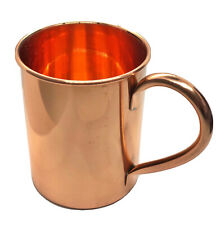 COPPER MUG SOLID MOSCOW MULE CLASSIC BAR DRINK COCKTAIL GOLDEN COLD TEMPERATURE