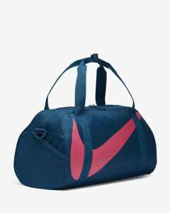 NIKE GYM CLUB KIDS DUFFEL GYM BAG 1526 CUBIC INCH BA5567-432 BLUE & PIINK NWT