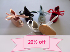 PROMO 20% OFF Set of 3 Pairs - BLEUETTE Doll Leather shoes - Size 40mm 11 colors