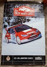 Original Motorsport WRC Monte Carlo Rally cartel ft. Peugeot 206