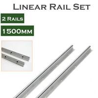 2Pcs SBR20-1500 20mm Linear Rail Shaft Rod Slide Guide Fully Supported CNC DIY