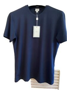 Giorgio Armani Collezioni Mens Black T Shirt Us SizeM 95% Viscose Retail $195