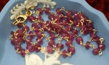 NATURAL RUBIES AND 14CT GOLD NECKLACE
