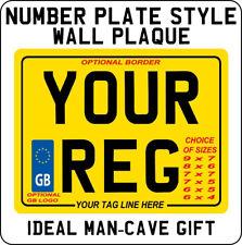 METAL PLAQUE / SIGN - novelty Number Plate design - gift for bike motorcycle fan  sc 1 st  eBay & Numbers Novelty Decorative Plaques \u0026 Signs | eBay
