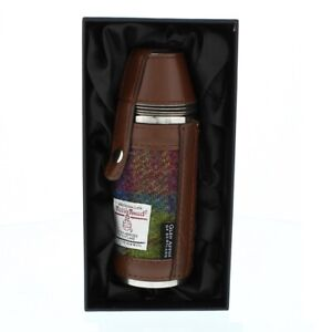 Glen Appin Harris Tweed Hunting Flask Gift Boxed Choice of Colours HF3500