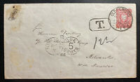 1888 Oldenburg Germany Stationery Postage Due Cover To Milwaukee USA