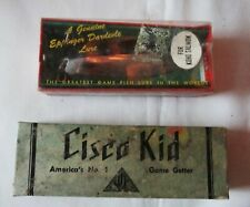 Lot of 2 Vintage Cisco Kid Jointed Fishing Lure & Eppinger Dardevle Salmon Lure