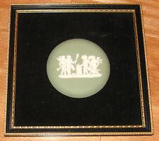 Vintage Wedgwood Plaque Green Cherubs Sacrifice To Hymen