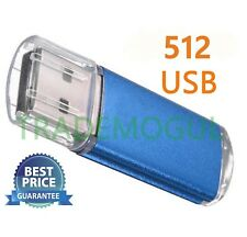 Sleek BLUE 512GB BRAND NEW USB 2.0 Thumb Pen Flash Drive