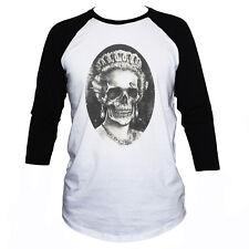 QUEEN SKULL T SHIRT- Funny Gothic Punk Elizabeth 3/4 Sleeve Men's Women's Top