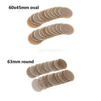40x naturel plat creux ovale rondes pièces de monnaie en bois pendentifs pour