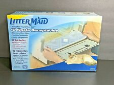 Litter Maid Waste Receptacles 12 Count Litter Box Odor Control Carbon Filter NEW