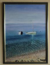 """Ölgemälde original signiert, Landschaft, Bild 70x50cm """"Adria Strand"""""""