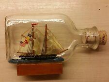 Vintage USA  Flag 2 Mast Ship in a Bottle