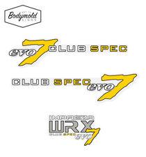 Subaru WRX Club spec evo 7 Sides and Rear Decals