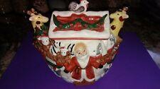 Fitz & Floyd Rare Omnibus Collection Cookie Jar Noah'S Ark W/Santa