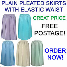 Ladies Pastel Pleated Skirt For Older Women. New Skirts For The Elderly Lady
