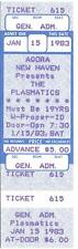 THE PLASMATICS 1983 UNUSED TICKET Agora NEW HAVEN CT Wendy O Williams PUNK