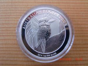 1 oz Silbermünze Kookaburra 2014