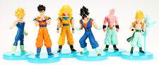 Dragon Ball Z 6x Action Figures Set: Super Saiyan Goku Gohan Vegeta & Majin Buu