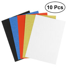 10pcs 6 Colors A4 Sheets Glitter Cardstock Craft Scrapbook for Card DIY Making Mixed Color