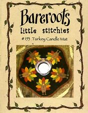 Bareroots TURKEY CANDLE Mat Kit Pattern, Wool Fabric & Floss Include