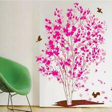 Large Pink Flower Tree Birds Wall Sticker Vinyl Art Decal Girls Bedroom Decor