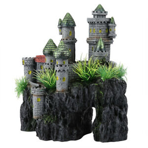 Simulation Resin Hide Castle Fish Tank Aquarium Ornaments Decor