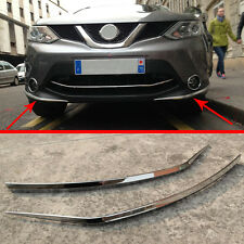 ABS Chrome front Bumper Protector Trim For Nissan Qashqai J11 2014 2015 2016