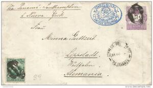G)1892 PERU, POSTAL STATIONARY COAT OF ARMS VIOLET 20C. & STAMP 2C GREEN, OVAL B