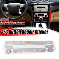 SILVER AC Buttons Climate Control Decals Repair For Ford S-Max/ Mondeo MK4 DYY!