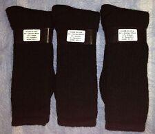 2pr Men's WARM GEAR 80% Merino Wool Boot/Outdoor Socks DK BLACK 10-13 LG