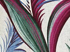 SALE Hawaiiana 40's Cottage Barkcloth Vintage Fabric Drape Curtain DIY 4 Avail.