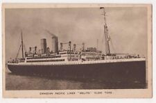 Canadian Pacific Liner Melita Shipping Postcard B625