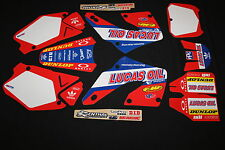 HONDA  CR125 & CR250 2000-2001 LUCAS FLU MX GRAPHICS KIT STICKER KIT STICKERS