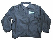REM R.E.M. EMBROIDERED UP LOGO PATCH BLACK WINDBREAKER JACKET XL NEW NOS RARE