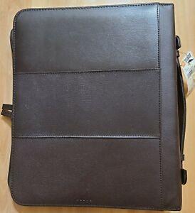 NWT WILSONS LEATHER Pelle Studio Leather Zip Bag Portfolio Organizer