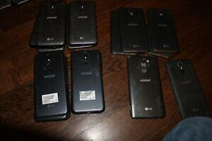 (Lot of 7) Cricket Wireless LG Fortune + (Lot 5) LG Harmony 3 +5 Harmony Cracked