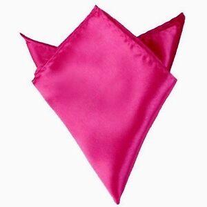 $98 Bloomingdales Men'S Solid Hot Pink Purple Handkerchief Dress Pocket Square