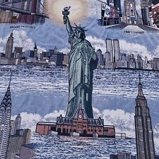 New York City Tapestry Fringed Sofa Throw Big Apple Twin Towers Liberty Statue