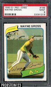 1980 O-PEE-CHEE OPC #189 Wayne Gross Oakland A's PSA 9 MINT
